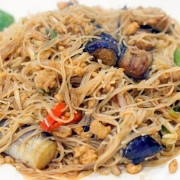 Rice Noodles with Braised Eggplant and Minced Pork in Spicy Garlic Sauce - Causeway Bay