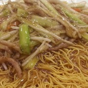 Shredded Pork and Mushroom with Fried Noodles - Causeway Bay