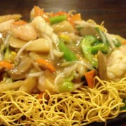 Fresh Squid with Stir-Fried Noodles in Supreme Soy Sauce - Causeway Bay