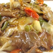 Fried Flat Rice Noodles with Beef in Black Bean Sauce - Causeway Bay