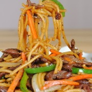 Beef in Black Pepper Sauce with Fried Spaghetti - Causeway Bay