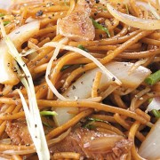 Fried Spaghetti with Beef in Swiss Sauce - Causeway Bay