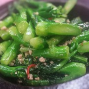 Braised Indian Lettuce - Chinese Broccoli in Sizzling Claypot - Causeway Bay