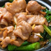 Pork Jowl & Chinese Broccoli in Soy Bean Paste - Causeway Bay