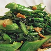 Sauteed Seasoned Vegetables with Salted Fish - Causeway Bay