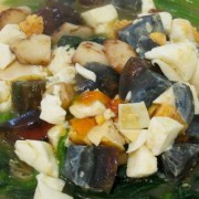 Steamed Vegetables - Assorted Mushrooms and Minced Pork in Broth with Egg and Century Egg - Causeway Bay